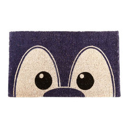"""CocoMatsNMore - CocoMatsNMore I See You Design Coco Doormats - 18"""" X 30"""" - Eco-friendly Coco Mat are hand-woven and  made from 100% natural coir . These coco doormats are designed to last for a long time and are easy to maintain and clean by either shaking or hosing it down. Designed with fade-resistant dyes they are durable enough to withstand the harshness of weather and look good througout the year. Furthermore, they keep your house clean by doing a fabulous job of trapping the dirt, mud and debris right at the doorstep."""