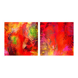 READY2HANGART.COM - Ready2hangart Alexis Bueno Abstract (2-PC) Canvas Wall Art Set - This abstract canvas art set is the perfect addition to any contemporary space. It is fully finished, arriving ready to hang on the wall of your choice.