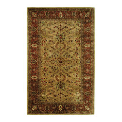 """Safavieh - Persian Legend Yellow/Maroon Area Rug PL511A - 9'6"""" x 13'6"""" - Inspired by the legendary designs of Persia's most prestigious rug-weaving capitals, these extraordinary reproductions recreate some of the most prized antiques in Safavieh's archival collection. Intricate Tabriz, Lavar Kerman and Isfahan hand-knotted motifs are remarkably adapted to these hand-tufted rugs of incomparable quality. The finest New Zealand wool is chosen to achieve the intricate weave of these carpets. With utmost attention to every detail, Safavieh creates its Persian Legends Collection in India to provide consumers an exquisite yet affordable artisan-crafted look."""
