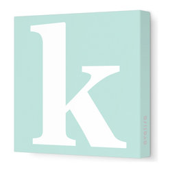 "Avalisa - Letter - Lower Case 'k' Stretched Wall Art, 12"" x 12"", Sea Green - Spell it out loud. These lowercase letters on stretched canvas would look wonderful in a nursery touting your little one's name, but don't stop there; they could work most anywhere in the home you'd like to add some playful text to the walls. Mix and match colors for a truly fun feel or stick to one color for a more uniform look."