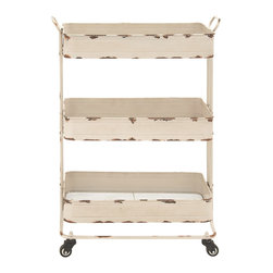 Traditional and Timeless Metal 3-Tier Cart - Description: