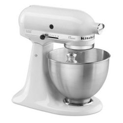 4-1/2 qt. Tilt Head Stand Mixer in White - For the record, it's totally possible to make egg whites by hand, but also for the record, it's so much better to let your KitchenAid Stand Mixer do it for you. It's not that I can't live without my mixer, I just don't want to.