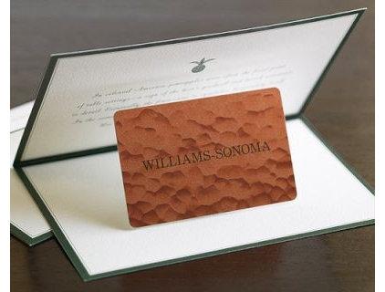 Williams Sonoma Gift Certificate