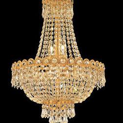 Elegant Lighting - Elegant Lighting 1900D16G/EC Century 8 Light Chandeliers in Gold - 1900 Century Collection Hanging Fixture D16in H22in Lt:8 Gold Finish (Elegant Cut Crystal)