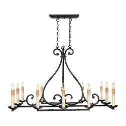 World Imports - Rennes 12-Light Chandelier, Rust - Rust finish