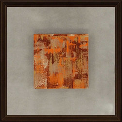 Paragon Decor - Orange Blast I Artwork - Exclusive Hand Painted Canvas - Mounted on Board