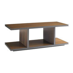 Stanley Furniture - Montreux-Rectangular Cocktail Table - The linear silhouette of the Rectangular Cocktail Table makes it a perfect platform to showcase the beauty and clarity of the Alpine Walnut finish.