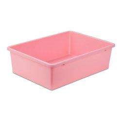 Large Plastic Bin, Dk Pink - Honey-Can-Do PRT-SRT1603-LgDkPnk Large Dark Pink Plastic Sorter Bin, Pink