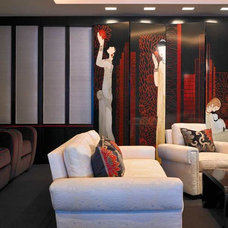 Eclectic Home Theater by David Churchill - Architectural  Photographer