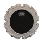 "Enchante Accessories Inc - Parisian Home Round Wooden Framed Chalkboard / Blackboard 23"" Diameter (White) - This message board features a Ornately carved Wooden Framed chalkboard. Use it as a traditional board for notes & to-do lists. With a wooden frame, this chalkboard works as well in the dining room, kitchen or mud room as it does in the home office."