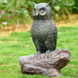 Owl Sculpture with Bluetooth Speakers - Shipping is included in the price!