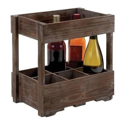 "BZBZ50217 - Designed Wood Wine Rack for Classic and Unique Wines - Designed Wood Wine Rack for Classic and Unique Wines. Chic and stylish, this Uniquely designed wood wine rack for classic and unique wines is a wood wine rack to store 6 bottles at a time, this chic piece of furniture can be placed in the mini bar in your house. It comes with the following dimensions 14"" W x 8"" D x 14"" H."