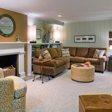 Traditional Family Room by Tyler Whitmore Interiors