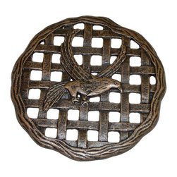 Oakland Living - Cast Aluminum Eagle Wall Décor or Stepping St - Finish: Antique BronzeMade of cast aluminum
