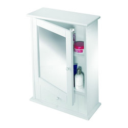 Croydex - Croydex WC600122 Maine Wood Cabinet in White - Croydex WC600122 Maine Wood Cabinet in White Classic New England style mirror cabinet, includes an adjustable shelf and draw for smaller items.  Coordinate with matching wall mounted accessories to complete the look.Croydex WC600122 Maine Wood Cabinet in White , Features:• Classic New England style mirror cabinet.