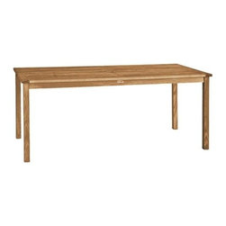 """Brunswick Teak 72"""" Rectangle Dining Table - The Brunswick table offers exceptional value for a high quality dining table that can be used with any of three birds chairs or backless benches."""