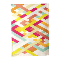 Lattice Tea Towel - This bold, bright tea towel with a geometric print by Avril Loreti would be a terrific hostess gift for a neon-loving friend.