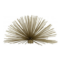 Brass Urchin Accent, Large - Although this brass urchin could remind me of the sea, it also reminds me of the coolness of winter, the bareness of branches and the beauty of long icicles. I adore this home accent in the winter, as well as year-round.