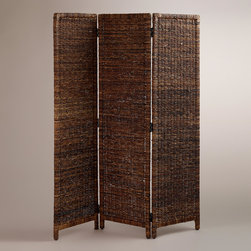 World Market - Woven Mika Screen - Our Woven Mika Screen is handcrafted from twisted madras, an exceptionally durable, naturally harvested abaca fiber found in the Philippines. This unique screen is a beautiful way to divide up a large space, section off a corner or simply add a little interest.