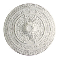 uDecor - MD-9127 Ceiling Medallion - Ceiling medallions and domes are manufactured with a dense architectural polyurethane compound (not Styrofoam) that allows it to be semi-flexible and 100% waterproof. This material is delivered pre-primed for paint. It is installed with architectural adhesive and/or finish nails. It can also be finished with caulk, spackle and your choice of paint, just like wood or MDF. A major advantage of polyurethane is that it will not expand, constrict or warp over time with changes in temperature or humidity. It's safe to install in rooms with the presence of moisture like bathrooms and kitchens. This product will not encourage the growth of mold or mildew, and it will never rot.