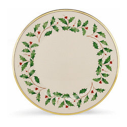 Lenoxx - Lenox Holiday Dinnerware Dinner Plate (Set Of 6) - And these festive Plates will make a wonderful addition to your table for this and every Holiday season. Decorated with the cherished holly and berries Holiday motif and Crafted of Lenox bone china and rimmed in precious gold.