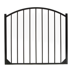Specrail - Specrail Cheshire Aluminum Arched Gate 2-Rail Panel - 4.5 ft. Multicolor - GR948 - Shop for Fencing and Fencing Materials from Hayneedle.com! Beautiful sophisticated and elegant the Specrail Cheshire Aluminum Arched Gate 2-Rail Panel - 4.5 ft. not only looks great but also adds security to your property. Designed to give you the beauty of wrought iron this gorgeous arched gate is constructed from strong and durable aluminum that is fully welded and will not rust. Welded corner gussets add strength to this already durable arched gate. It also has a maintenance-free design which means you won t have to worry about painting or staining. Two self-closing hinges and a pad-lockable gravity latch are included. Easy to install this gate is made to be used with the DIY Fence Universal Fence Post and DIY Fence Asbury 482 Fence Panel System. It is advised that you do not mix and match fence brands.Additional FeaturesDesigned to be used with DIY Fence Universal Fence PostUse with the DIY Fence Asbury 482 Fence Panel SystemNot advisable to mix and match fencing brandsAll welded construction is durable and strongGorgeous and functional gateWelded corner gussets add strengthIncludes 2 self-closing hingesAlso includes pad-lockable gravity latchMeets BOCA pool code requirements in most areasGives you the beauty of traditional wrought ironEasy to installAbout SPECRAILSPECRAIL has been designing aluminum products of the highest quality for over 50 years. They offer the widest selection of any ornamental aluminum fencing company and their extraordinary line includes 11 styles 4 grades and 5 colors. SPECRAIL brings beauty strength and a traditional wrought iron look to their maintenance-free aluminum fencing. Every piece they manufacture represents their strong commitment to meeting the needs of their customers and their dedication to quality.