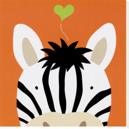 Artcom - Peek-a-Boo XII, Zebra by Yuko Lau - Peek-a-Boo XII, Zebra by Yuko Lau is a Stretched Canvas Print.