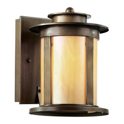 Trans Globe Lighting - Trans Globe Lighting Bronzed Transitional Outdoor Wall Sconce X-ZBA 01204 - Weather resistant cast aluminum. Antique bronze finish with honey glass. Rectangle wall plate. Vintage outdoor decor for eclectic gardens.