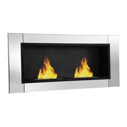 Moda Flame - Moda Flame Valencia Wall Mounted Ethanol Fireplace - The Valencia is a contemporary unique recessed fireplace with its due bio-ethanol burner concept, providing malting flames that seemingly dance with one another. When lit, the Valencia creates a breathtaking ambiance that cannot be equated. With its bold sophisticated steel outer frame, it represents a poised yet assertive look.