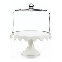 Martha Stewart Collection Serveware, Scalloped Cake Stand And Dome - Martha Stewart does it again with an adorable scalloped cake stand. And the dome lid is so elegant. My mom would love this.