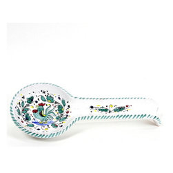 Artistica - Hand Made in Italy - Orvieto: Spoon Rest (Wall Hung Ready) - Orvieto Collection: This is a very old and traditional pattern that originated during the Renaissance in the hill-top town of Orvieto - Italy.