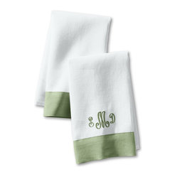 Color Border Guest Towel (Set of 2)