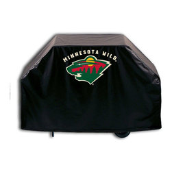 """Holland Bar Stool - Holland Bar Stool GC-MinWld Minnesota Wild Grill Cover - GC-MinWld Minnesota Wild Grill Cover belongs to NHL Collection by Holland Bar Stool This Minnesota Wild grill cover by HBS is hand-made in the USA; using the finest commercial grade vinyl and utilizing a step-by-step screen print process to give you the most detailed logo possible. UV resistant inks are used to ensure exeptional durablilty to direct sun exposure. This product is Officially Licensed, so you can show your pride while protecting your grill from the elements of nature. Keep your grill protected and support your team with the help of Covers by HBS!"""" Grill Cover (1)"""