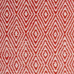 Hook & Loom Rug Company - Ashford Orange/White Rug - Very eco-friendly rug, hand-woven with yarns spun from 100% recycled fiber.  Color comes from the original textiles, so no dyes are used in the making of this rug.  Made in India.