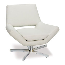 """Avenue Six - Yield 31"""" Wide Chair in White Faux Leather - Avenue Six Yield 31"""" Wide Chair in White Faux Leather"""