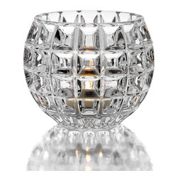 Jay Import Co. - Fitz & Floyd Votive, Clear, Facets Votive - Add a spark of contemporary charm and romantic ambiance to a dining table with this Candle Holder from Fitz & Floyd. With this piece, you can dress up a table and set the mood for company or a romantic dinner at home.