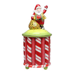 ATD - 15.25 Inch Santa with Vest and Yellow Bag Holiday Themed Cookie Jar - This gorgeous 15.25 Inch Santa with Vest and Yellow Bag Holiday Themed Cookie Jar has the finest details and highest quality you will find anywhere! 15.25 Inch Santa with Vest and Yellow Bag Holiday Themed Cookie Jar is truly remarkable.