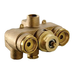"""Toto - Toto TSTT 3/4"""" Thermostatic Mixing Valve Rough Valve only - Toto TSTT 3/4"""" Thermostatic mixing valve with shape memory alloy responds faster to temperature change than conventional thermostatic control methods"""