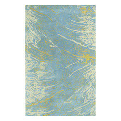 "Kaleen - Kaleen Brushstrokes BRS01 (Blue) 2'6"" x 8' Rug - This Hand Tufted rug would make a great addition to any room in the house. The plush feel and durability of this rug will make it a must for your home. Free Shipping - Quick Delivery - Satisfaction Guaranteed"