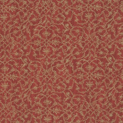 Walls Republic - Hedge Red Wallpaper R1140, double roll - Hedge is a popular curvilinear patterned design with a high level of detailing. With its small scale ornamental damaskpattern and subtle contrast it will have a decorative luxurious look. Use it in a dining room for a look that fuses togethertraditional a