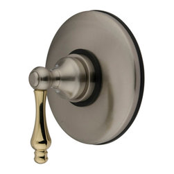 Kingston Brass - Wall Volume Control Valve - Our collection of volume control valves (finished in satin nickel/polished brass) are specifically built to provide you with the adequate amount of water to make your showering experience a delightful one.