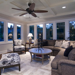 traditional family room by Schrader &amp; Companies