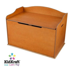 KidKraft - Austin Toy Box - Honey by Kidkraft - Our Austin Toy Box lets kids keep all of their favorite toys in one convenient place. This sturdy toy box was built to last and would fit right in with any room setting.