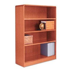 Alera - Alera BCR44836MO Aleradius Corner Wood Veneer Bookcase - Medium Oak Multicolor - - Shop for Bookcases from Hayneedle.com! About AleraWith the goal of meeting the needs of all offices -- big or small casual or serious -- Alera offers an excellent line of furnishings that you'll love to see Monday through Friday. Alera is committed to quality innovative design precision styling and premium ergonomics ensuring consistent satisfaction.