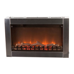 Fire Sense - Fire Sense Stainless Steel Wall Mounted Electric Fireplace - Add sophisticated ambience to any room with our Stainless Steel Wall Mounted Electric Fireplace.