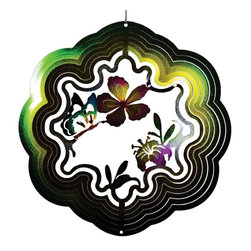 Great World - 12 Inch Flying Butterfly with Flowers 3-D Zephyr Spiral Wind Spinner - This gorgeous 12 Inch Flying Butterfly with Flowers 3-D Zephyr Spiral Wind Spinner has the finest details and highest quality you will find anywhere! 12 Inch Flying Butterfly with Flowers 3-D Zephyr Spiral Wind Spinner is truly remarkable.