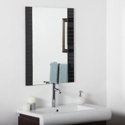 Decor Wonderland - Beveled Black Bathroom Wall Mirror - 24W x 32H in. - SSM84B - Shop for Bathroom Mirrors from Hayneedle.com! The Beveled Black Bathroom Wall Mirror - 24W x 32H in. pops with obsidian sides that accentuate the expansive reflection at its heart. This contemporary design is crafted from two pieces of thick glass and metal with a double-coated silver backing seamed edges and an eye-catching trim of 40 uniquely hand-cut black beveled glass mirrors. Includes mounting hardware for quick and easy wall hanging both vertically and horizontally.About Decor Wonderland of USDecor Wonderland US sells a variety of living room and bedroom furniture mirrors lamps home office necessities and decorative accessories. Decor Wonderland strives to add variety to their selection so that every home is beautifully and perfectly decorated to suit their customer's unique tastes.
