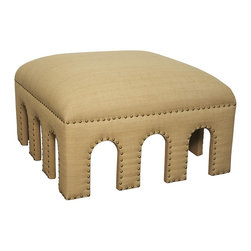 NOIR - NOIR Furniture - Ethans Ottoman - OTT113 - Features: