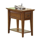 Riverside Furniture - Riverside Furniture Oak Ridge Chairside End Table in Warm Oak - Riverside Furniture - End Tables - 4410 - The Arkansas River Valley is home of majestic forests, ruggedly beautiful mountains, gurgling brooks and swiftly flowing rivers. It is also the home of Riverside Furniture Corporation. But like they would with any old friend, most folks refer to us just by our first name.