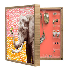 DENY Designs - Garima Dhawan New Friends 2 BlingBox Petite - Handcrafted from 100% sustainable, eco-friendly flat grain Amber Bamboo, DENY Designs BlingBox Petite measures approximately 15 x 15 x 3 and has an exterior matte cover showcasing the artwork of your choice, with a coordinating matte color on the interior. Additionally, the BlingBox Petite includes interior built-in clear, acrylic hooks that hold over 120 pieces of jewelry! Doubling as both art and an organized hanging jewelry box, It's bound to be the most functional (and most talked about) piece of wall art in your home! Custom made in the USA for every order.